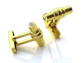 Golden Cufflinks BZ008 3D printable model