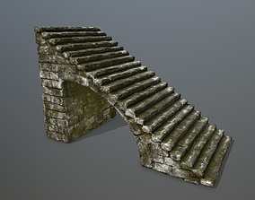 lava stairs 3D model low-poly