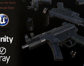 HK MP5 SMG LowPoly-GameReady 3D asset