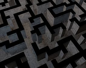 3D asset The Maze Low Poly Game Model
