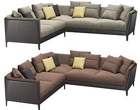 3D model Poltrona Frau - Bretagne Corner Sofa