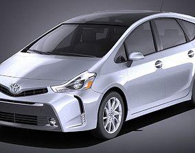 3D model Toyota Prius V 2017 VRAY
