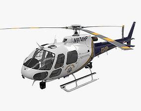 AS-350 California Highway Patrol 3D model