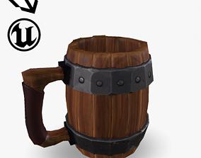 3D model realtime Fantasy Wooden Beer Mug