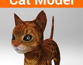 3d Pet Cat low poly VR / AR ready