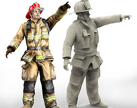 profession Firefighter characters of NY print model
