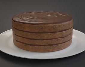 Chocolate Cake 3D asset