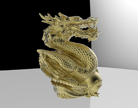 Dragon statue 3D printable model beast