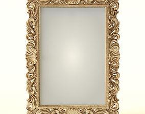 Mirror classic rococo gold 3D model
