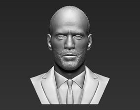 Jason Statham bust 3D printing ready stl obj