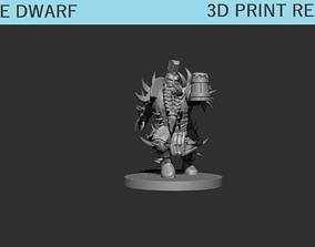 Rage Dwarf Miniature 3D print model