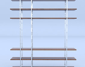 Bookcase Industrial 3D model