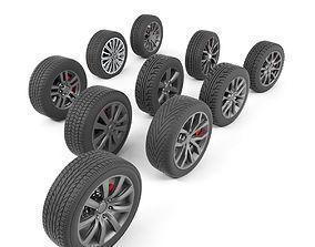 car-wheel 3D Wheels Collection