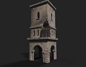 3D model VR / AR ready Medieval ruin