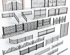 3D model Wrought iron fences
