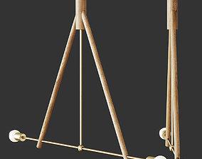 LODGE CHANDELIER 3D model