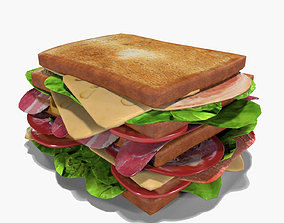 ham 3D Mega Club Sandwich