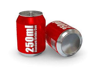 Drinks Can - 250ml Standard 3D asset