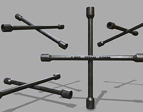 spanner 3D model realtime Lug Wrench