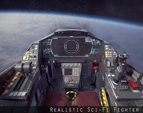 3D model Sci Fi Fighter Cockpit 7