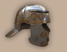 3D model Ancient Legionary Roman Helmet Galea