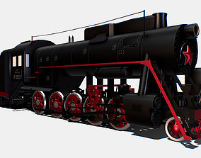Animated Freight Steam Locomotive L-3055 3D model