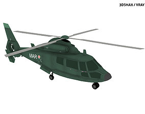 EUROCOPTER DAUPHIN HELICOPTER 3D asset
