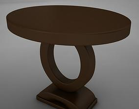 Wood Dining Room Buffet Table 3D