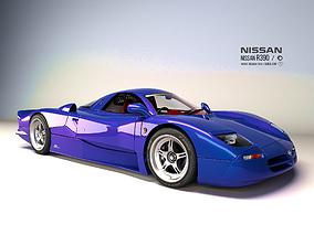 Nissan R390 1994 3D model