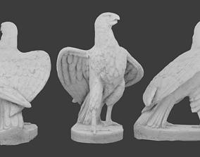 3D model low-poly Eagle Statue