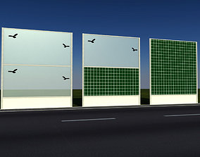 Checker noise barrier 3D model