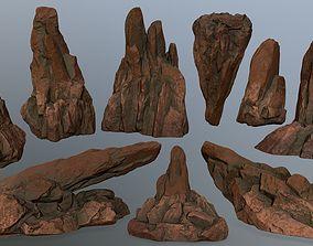 desert rocks 3D asset game-ready