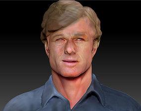 Robert Redford 3d model bust The Horse Whisperer
