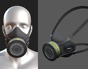 Gas mask helmet 3d model military VR / AR ready 2