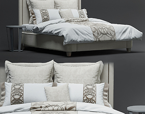 RH WALLACE FABRIC BED 3D