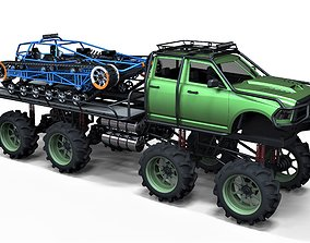 3D model Super bogger with Concept tracked vehicle