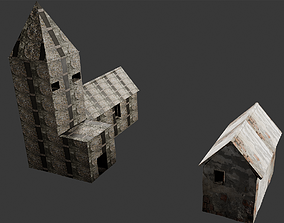 brick 3D old church
