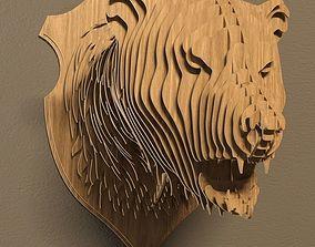 3D Bear head