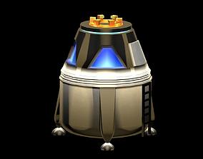 3D model Space Capsule
