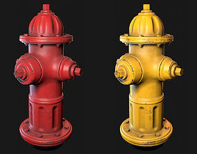 3D model Low Poly PBR Fire Hydrant