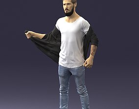 Man in casual 1024 3D Print Model stereolithography