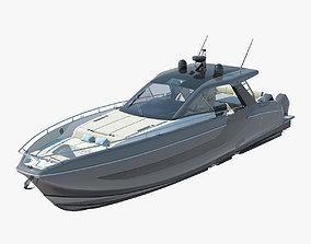 Azimut verve 47 High Speed Sea Yacht 3D