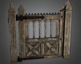 3D asset Outdoor Gate 04 - GFS - PBR Game Ready