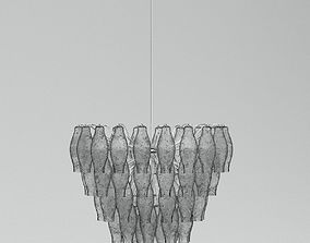 Grey Chandelier Lamp 3D model