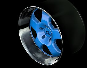 Custom 5-spoke wheel r18 3D model
