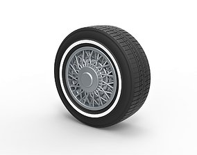 Diecast wire wheel 2 Scale 1 to 10 3D printable model