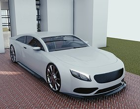 BLENDER EEVEE Brandless Extended Wheelbase 2 3D asset 1