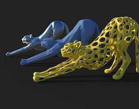 Cheetah sculpture 3D print model