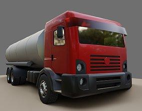 Red Truck - Tank - Fuel - Gasoline - Caminhao 3D model