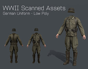 WW2 German Military Uniform - WW2 Scanned Asset Pack 3D